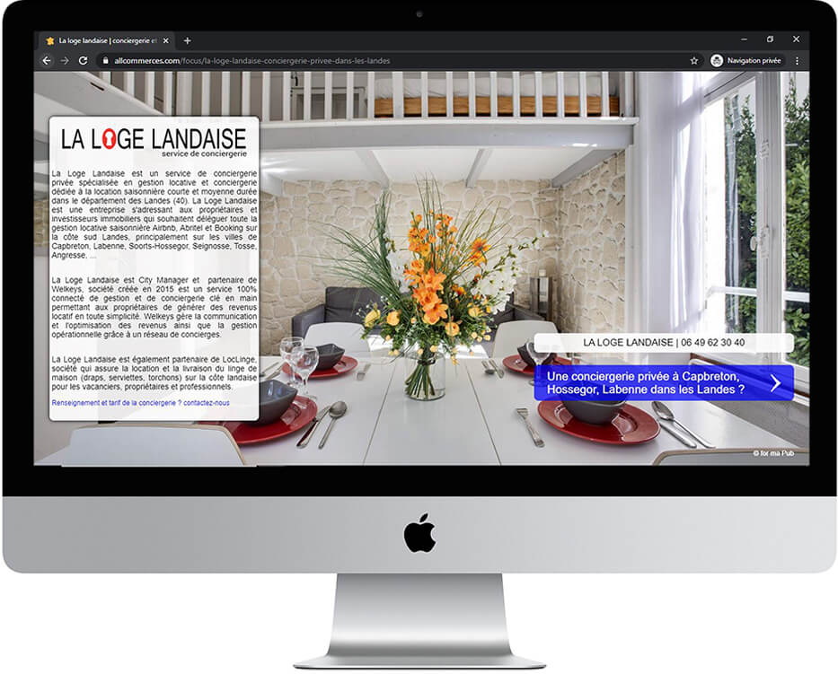 page focus par allcommerces.com