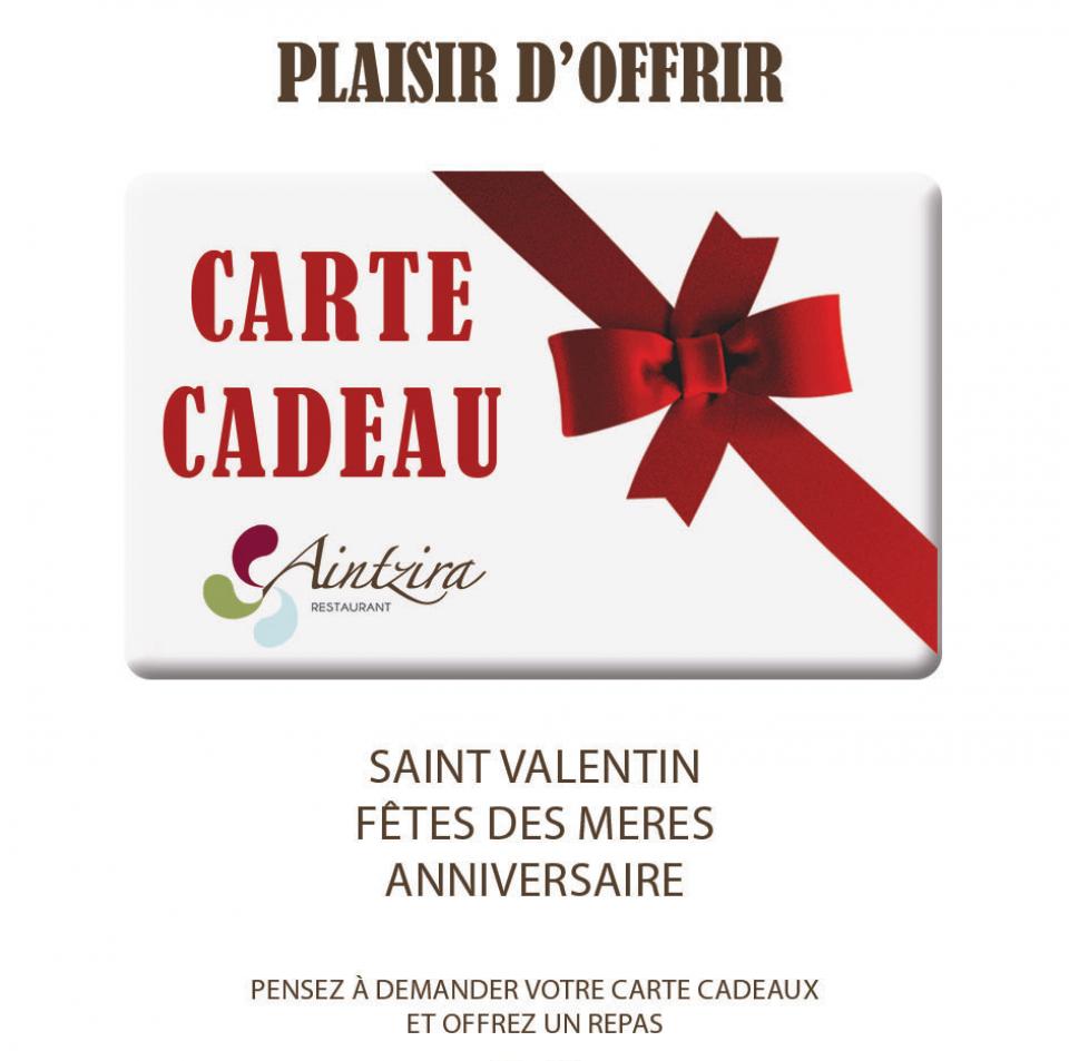Carte Cadeau Restaurant.Carte Cadeau Restaurant Pizzeria Aintzira Saint Pee Sur